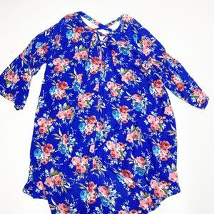 Umgee Dresses - Umgee NWT Royal Blue Floral Bell Sleeve Dress 2XL